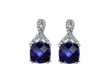 18K White Gold 2ct Blue Sapphire Infinity Stud Earrings product image