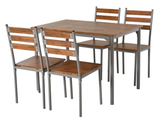 Modern 5-Piece Wooden Dining Table Set product image