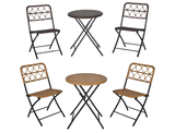 Rattan Patio Bistro Set with Easy Folding Table and Chairs product image