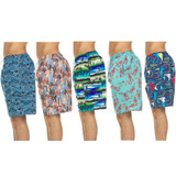 Men's Printed Quick Dry Swim Shorts with Cargo Pocket product image