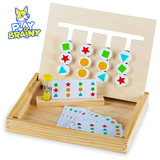 Play Brainy Four-Color & Shape Puzzle Game product image