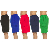 Men's Solid Quick Dry Swim Trunks with Cargo Pocket product image