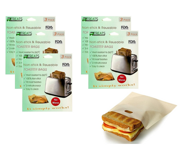 Reusable Non-Stick Toaster Bags (5-Pack) product image