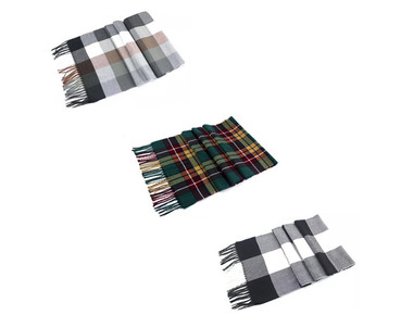 Soft Tartan Plaid Cashmere Feel Scarf product image