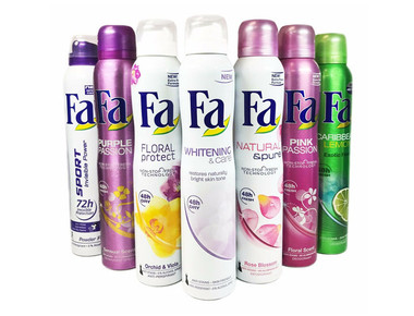 FA Women's Deodorant Antiperspirant Sprays (6-Pack) product image