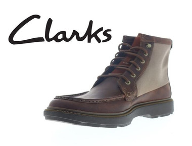 Clarks Dempsey Peak Men's Brown Leather Casual Dress Boots (Clearance) product image