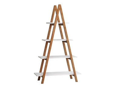 Modern 4-Tier Solid Bamboo Ladder Shelf Bookcase product image