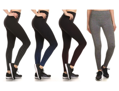 Women's Ombre Fleece Performance Leggings (4-Pack) product image