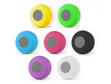 Waterproof Bluetooth Shower Speaker with Suction Mount product image
