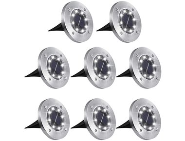 Waterproof Solar Powered LED Garden Lights (8-Pack) product image
