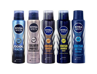 Nivea Men's Deodorant Antiperspirant Spray (6-Pack) product image