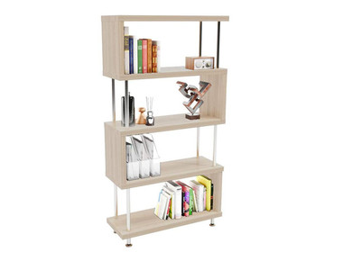 Z-Shaped 5-Tier Wooden Etagere Bookshelf product image