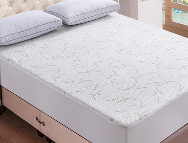Waterproof Bamboo Quilted Mattress Pad Protector  product image