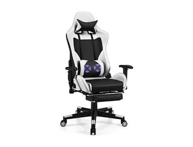 Reclining Massage Rolling Office/Gaming Chair with Footrest product image