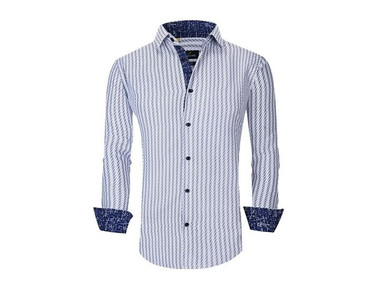 Suslo Couture Men's Printed Long Sleeve Button Down Shirt (Clearance) product image