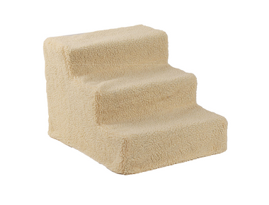 Portable 3-Step Pet Stairs with Fabric Cover product image