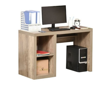 Wood Computer Desk with Display Shelves product image
