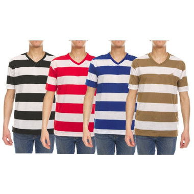 Men's Striped Short Sleeve T- Shirts (4-Pack) product image