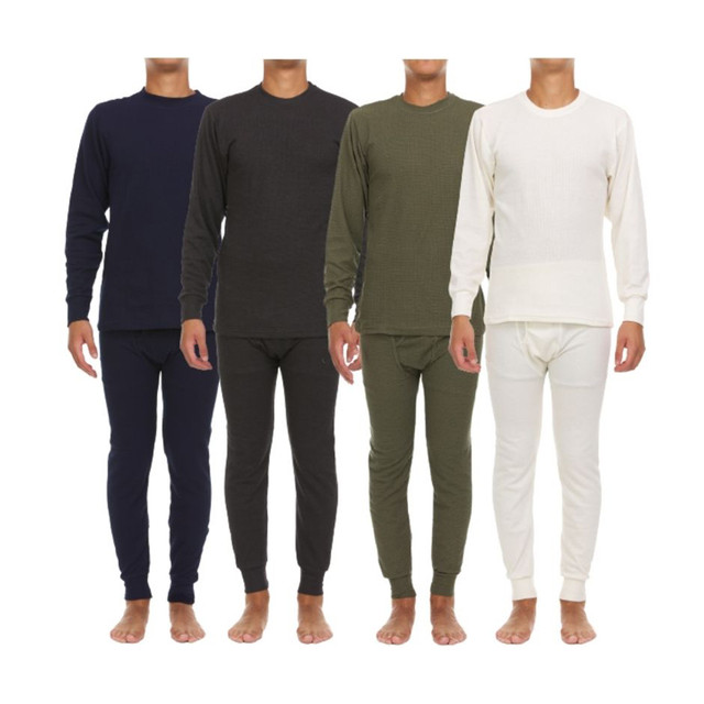 4-Piece Men's Assorted Premium Waffle Knit Thermal Sets