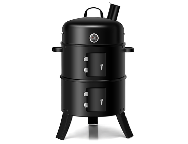 Portable Round 3-in-1 Vertical Charcoal Smoker