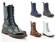 Women's Mid-Calf Classic Marten-Style Combat Boots (Clearance) product image