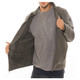 Men's Motorcycle Bomber Fleece Lined Faux Leather Jacket product