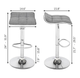 Curved Top Adjustable Height Bar Stools (Set of 2) product