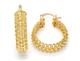 Cable Link 14K Gold-Filled Elegant Hoop Earrings product