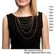 Gold Plated Solid .925 Sterling Silver 2.5MM Diamond-Cut Rope Chain product