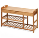 Bamboo 3-Tier Entryway Storage Bench product