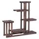 Indoor/Outdoor Wooden 6-Shelf Plant Display Stand product