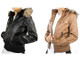 Women's Faux Leather Motorcycle Jacket with Hood (Clearance) product image