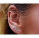 Princess-Cut White Swarovski Graduated Stud Earrings Set (6 Pairs) product