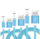 3-, 6-, & 10-ft Braided MFi Lightning Cables for Apple (3-Pack) product