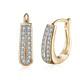 White Swarovski Multi-Stone Gold Plated Hoop Earrings   product