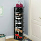 Black 7-Tier Wooden Space Saving Shoe Rack  product