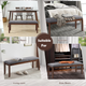 Upholstered Wood Entryway Bench product