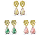 Colored Druzy Stone Gold Plated Drop Earrings product