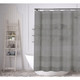 Striped Fabric Water-Resistant Shower Curtain with Hooks product
