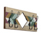 Rustic Wall Mounted Wood Plank Storage Hooks product