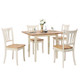 Wood Extendable 30'' 5-Piece Dining Table Set product
