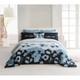 Kensie Inspiring Blue Poppy 100% Cotton 3-Piece Duvet Set product