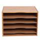 Bamboo 4-Shelf Desk File Sorter product