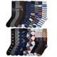 Men's Classic Bright Prints Dress Socks (12-Pairs) product