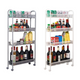 Honeycomb Mesh 4-Tier Rolling Storage Cart product