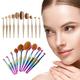 10-Piece Professional Oval Kabuki Metallic Makeup Brush Set product