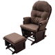 Wooden Glider Nursery Chair Recliner with Ottoman Set product