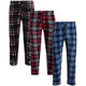 Men's Ultra-Soft Flannel Plaid Pajama Lounge Pants with Pockets (3-Pack) product