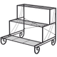 Outdoor 3-Tier Metal Plant Stand product