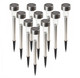 Stainless Steel Outdoor LED Solar Powered Path Lights (10-Pack) product image
